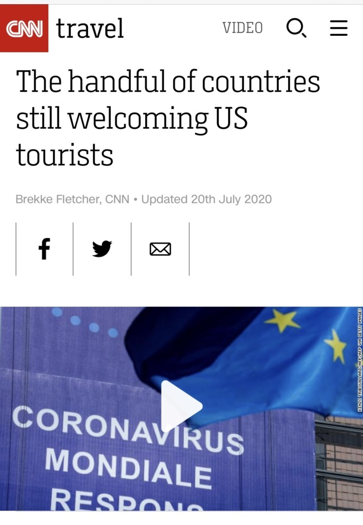 The Handful Of Countries Still Welcoming Us Tourists By Cnn Travel Carlos Melia